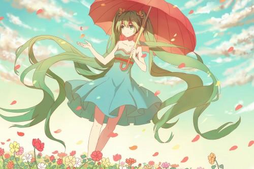 二次 微エロ ゲーム ボーカロイド 初音ミク 萌え 天使 桜ミク ただでさえ天使のミクが かわいい 桜ミク 雪ミク ボトルミク ツインテール 青緑髪 緑髪 いちご白無垢 二次非エロ画像 hatsunemiku2015011822