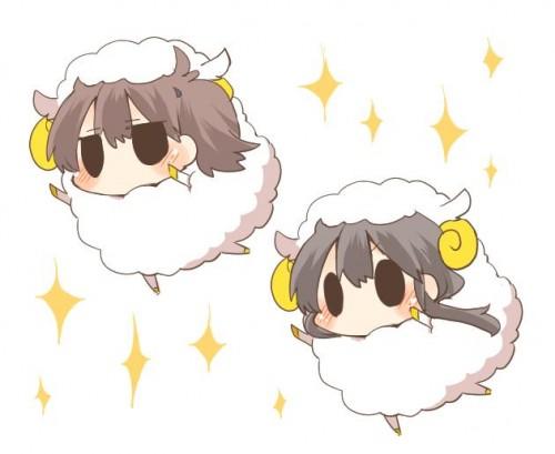 二次 エロ 萌え フェチ けもみみ 羊 着ぐるみ アニマルフード コスプレ モコモコ 2015 正月 干支 二次エロ画像 hitujimusume2015010427