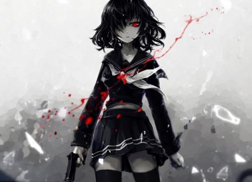 二次 エロ 萌え 黒髪 フェチ 漆黒 髪型 黒髪ロング 黒髪ショート 二次エロ画像 kurokami2015011732