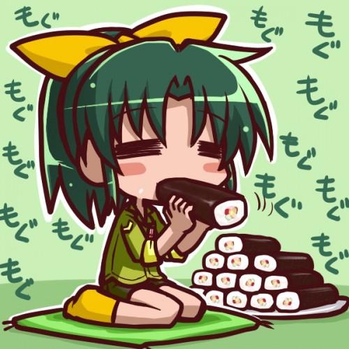 二次 非エロ 萌え フェチ 食べ物 思わせぶり 舐めてる 擬似フェラ 節分 冬 恵方巻き 二次微エロ画像 ehoumaki2015020433
