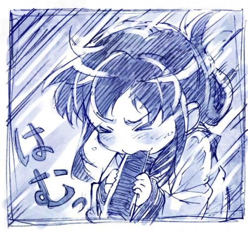 二次 非エロ 萌え フェチ 食べ物 思わせぶり 舐めてる 擬似フェラ 節分 冬 恵方巻き 二次微エロ画像 ehoumaki2015020441