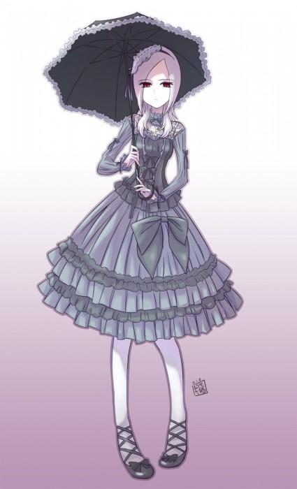 二次 萌え フェチ ゴスロリ ロリ エロ フリル ゴシック ゴス ゴシック・アンド・ロリータ (Gothic&Lolita) メイド ロリータ・ファッション ホワイトロリータ ドレス 二次エロ画像 gothiclolita2015021242