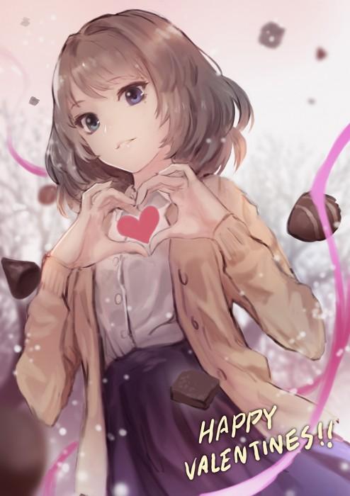 二次 エロ 萌え フェチ ハートマーク アクセサリー チョコレート 表情 目がハート ラブラブ 気持ち良い 二次エロ画像 heart2015022633