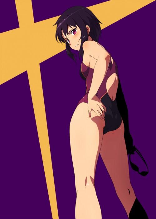 二次 エロ 競泳水着 ハイレグ ワンピース型 萌え フェチ 食い込み スポーツ少女 二次エロ画像 kyoueimizugi2015020722