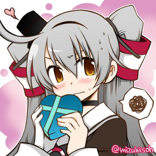 二次 非エロ 萌え フェチ バレンタイン チョコレート 裸リボン プレゼント 裸チョコ 赤面 照れてる 恥ずかしがってる 表情 二次微エロ画像 valentine2015021533