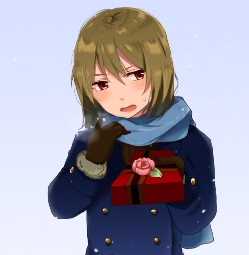 二次 非エロ 萌え フェチ バレンタイン チョコレート 裸リボン プレゼント 裸チョコ 赤面 照れてる 恥ずかしがってる 表情 二次微エロ画像 valentine2015021544