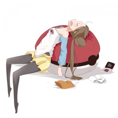 二次 エロ 萌え フェチ 体にフィットするソファ ダメ人間化 ソファ 人をダメにするソファ ビーズクッション 寝てる 寝顔 二次エロ画像 damenisurusofa2015033121