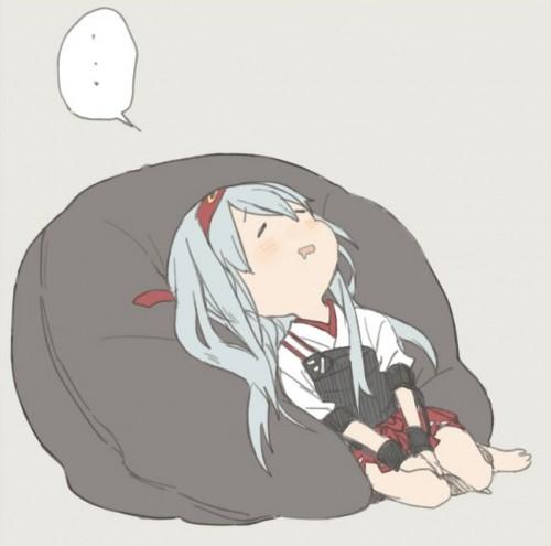 二次 エロ 萌え フェチ 体にフィットするソファ ダメ人間化 ソファ 人をダメにするソファ ビーズクッション 寝てる 寝顔 二次エロ画像 damenisurusofa2015033133