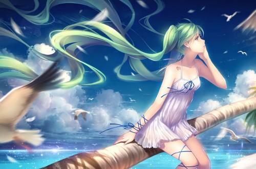 二次 微エロ ゲーム ボーカロイド 初音ミク 萌え 天使 桜ミク ただでさえ天使のミクが かわいい 桜ミク 雪ミク ボトルミク ツインテール 青緑髪 緑髪 いちご白無垢 二次非エロ画像 hatsunemiku2015031218