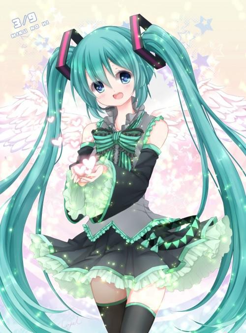 二次 微エロ ゲーム ボーカロイド 初音ミク 萌え 天使 桜ミク ただでさえ天使のミクが かわいい 桜ミク 雪ミク ボトルミク ツインテール 青緑髪 緑髪 いちご白無垢 二次非エロ画像 hatsunemiku2015031228