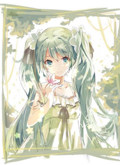 二次 微エロ ゲーム ボーカロイド 初音ミク 萌え 天使 桜ミク ただでさえ天使のミクが かわいい 桜ミク 雪ミク ボトルミク ツインテール 青緑髪 緑髪 いちご白無垢 二次非エロ画像 hatsunemiku2015031229