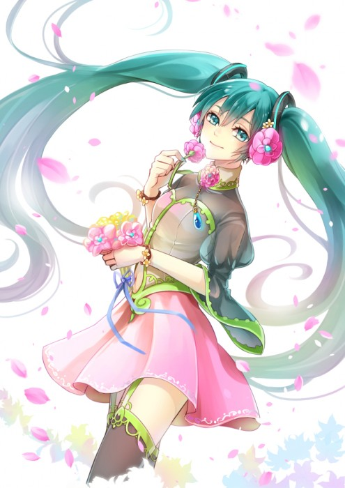 二次 微エロ ゲーム ボーカロイド 初音ミク 萌え 天使 桜ミク ただでさえ天使のミクが かわいい 桜ミク 雪ミク ボトルミク ツインテール 青緑髪 緑髪 いちご白無垢 二次非エロ画像 hatsunemiku2015031234