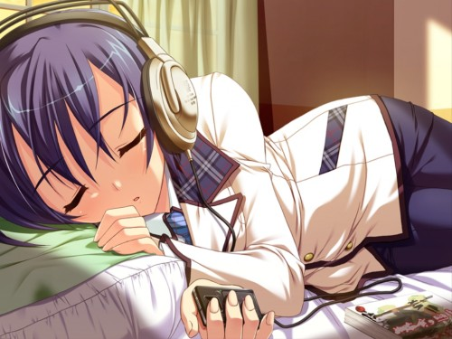 二次 非エロ 萌え ヘッドフォン ヘッドホン 音楽 ヘッドセット エロ 楽器 耳当て 二次微エロ画像 headphone2015031502