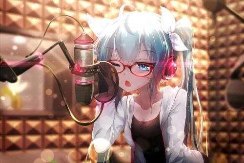 二次 非エロ 萌え ヘッドフォン ヘッドホン 音楽 ヘッドセット エロ 楽器 耳当て 二次微エロ画像 headphone2015031505