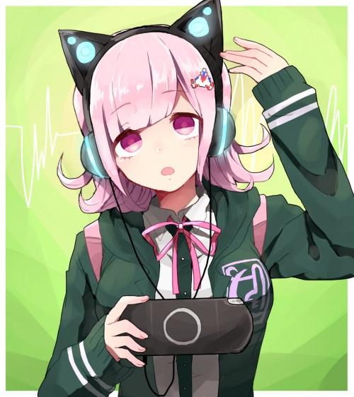 二次 非エロ 萌え ヘッドフォン ヘッドホン 音楽 ヘッドセット エロ 楽器 耳当て 二次微エロ画像 headphone2015031543