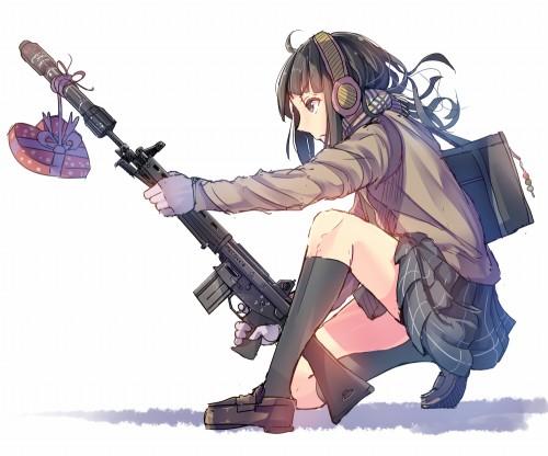 二次 武器 フェチ 萌え 武器娘 非エロ 微エロ 武装少女 銃 軍人 ライフル マシンガン 鉄砲 大砲 RPG ピストル 拳銃 マスケット銃 水鉄砲 婦警 二次非エロ画像 gun2015042806