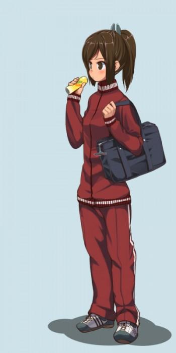 二次 萌え 非エロ フェチ ブルマ 体操服 体操着 ジャージ スパッツ ショートパンツ 短パン スポーツ少女 お尻 太もも 二次微エロ画像 jersey2015040810