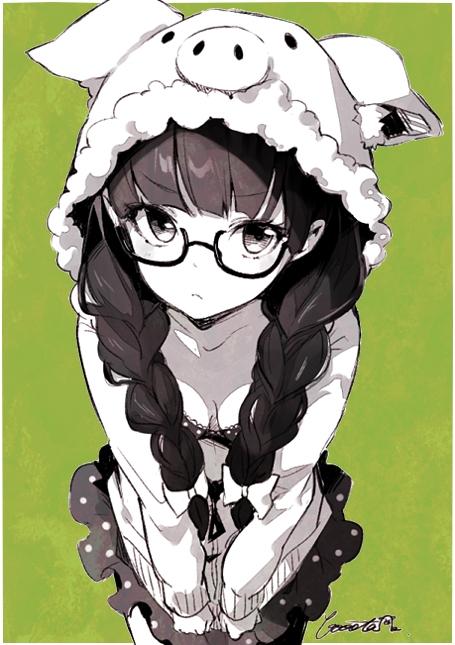 二次 非エロ 萌え フェチ メガネ めがね 眼鏡 眼鏡っ娘 二次微エロ画像 megane2015041407