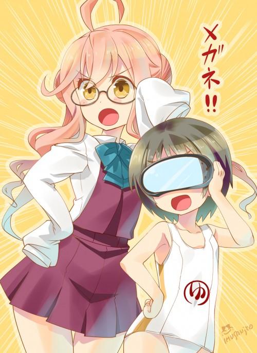二次 非エロ 萌え フェチ メガネ めがね 眼鏡 眼鏡っ娘 二次微エロ画像 megane2015041450
