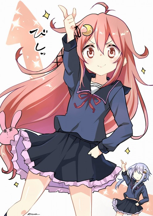 二次 エロ 萌え フェチ ピンク髪 髪型 赤紫 桃色 ピンク色の髪の毛をしたキャラクターは淫乱 淫乱ピンク 二次エロ画像 pinkgami2015043027
