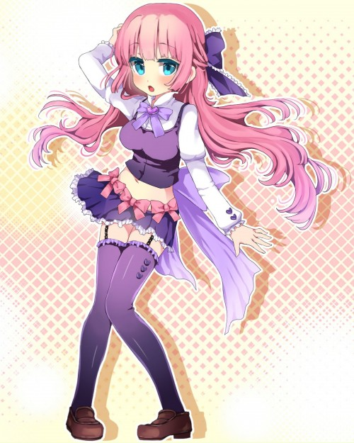 二次 エロ 萌え フェチ ピンク髪 髪型 赤紫 桃色 ピンク色の髪の毛をしたキャラクターは淫乱 淫乱ピンク 二次エロ画像 pinkgami2015043030