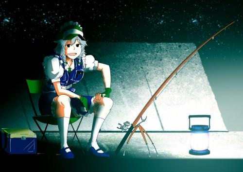 二次 非エロ 萌え 美少女風景 季節 海 川 湖 水着 釣り 釣り竿  釣りキチおばさん 二次非エロ画像 turi2015050150