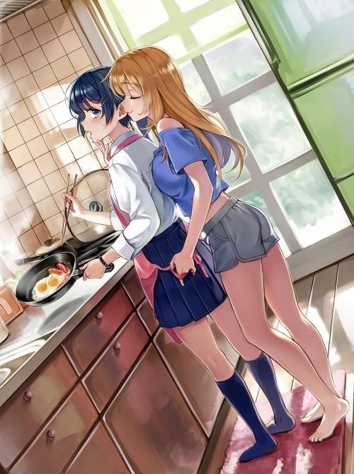 二次 エロ 萌え フェチ 料理 調理 ご飯 食べ物 エプロン 裸エプロン 二次エロ画像 cooking2015050306