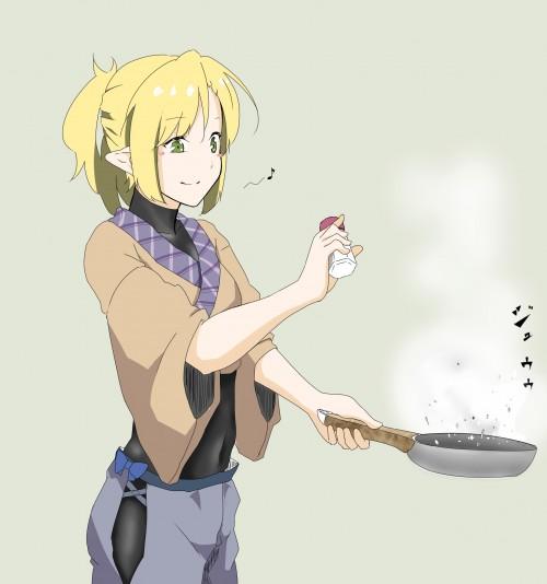 二次 エロ 萌え フェチ 料理 調理 ご飯 食べ物 エプロン 裸エプロン 二次エロ画像 cooking2015050325