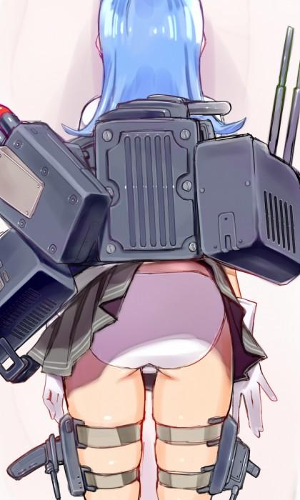 二次 エロ 萌え ゲーム 艦隊これくしょん 艦これ 擬人化 手袋 初風 青髪 姫カット・前髪ぱっつん 陽炎型駆逐艦7番艦 ブレザーベスト ツチノコ 二次エロ画像 hatsukazekancolle2015051830