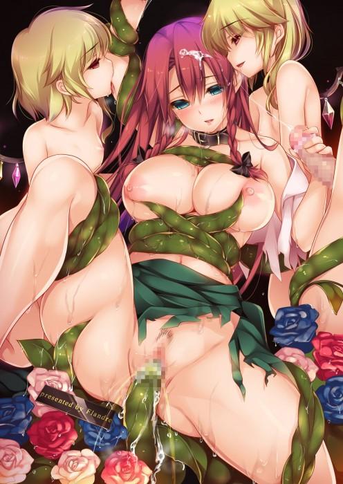二次 エロ 萌え フェチ エロハプニング 服が破けてる ビリビリ ラッキースケベ 半裸 中破 大破 レイプ 強姦 着衣SEX 二次エロ画像 hukubiri2015052809