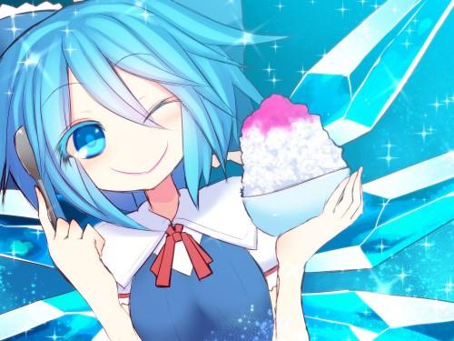 二次 非エロ 萌え フェチ 美少女風景 扇風機 風呂上り 夏 暑い アイスクリーム カキ氷 季節 二次エロ画像 ice2015051503