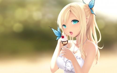二次 非エロ 萌え フェチ 美少女風景 扇風機 風呂上り 夏 暑い アイスクリーム カキ氷 季節 二次エロ画像 ice2015051527