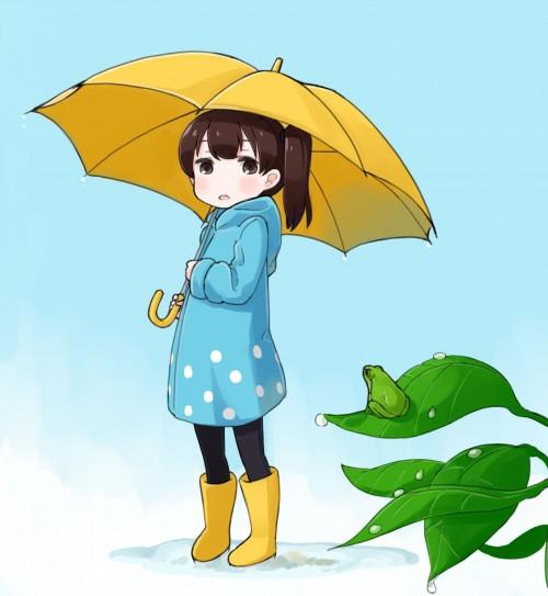 二次 非エロ 萌え フェチ 美少女風景 傘 夏 梅雨 日傘 紫陽花 花 濡れてる 透けてる 二次微エロ画像 kasa2015060102