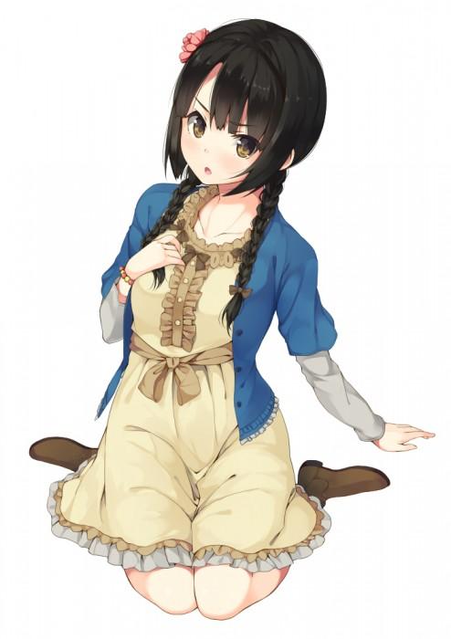 二次 萌え エロ フェチ 髪型 三つ編み おさげ 文学少女 二次エロ画像 mitsuami2015051733