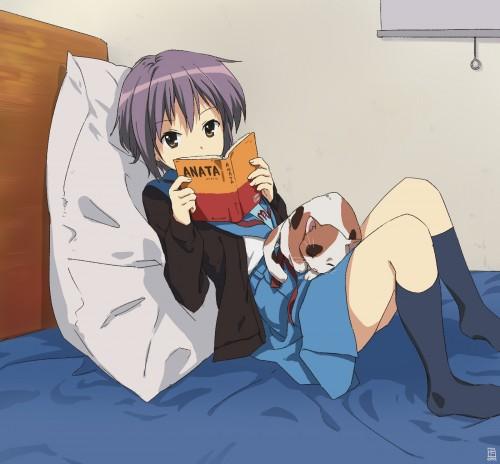 二次 エロ 萌え フェチ 涼宮ハルヒの憂鬱 長門有希ちゃんの消失 長門有希 ショートカット・短髪 紫髪 対有機生命体コンタクト用ヒューマノイド・インターフェース(TFEI) ながもん 制服 二次エロ画像  nagatoyuki2015051921