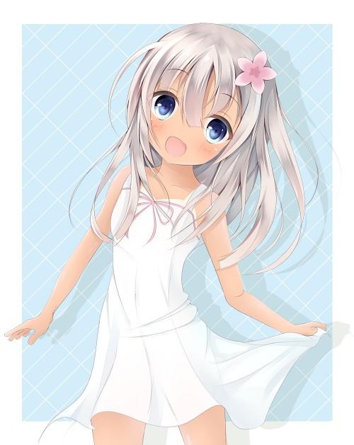 二次 エロ 萌え フェチ ワンピース服 白ワンピ サンドレス 透けてる サマードレス 二次エロ画像 shiroonepiece2015052902