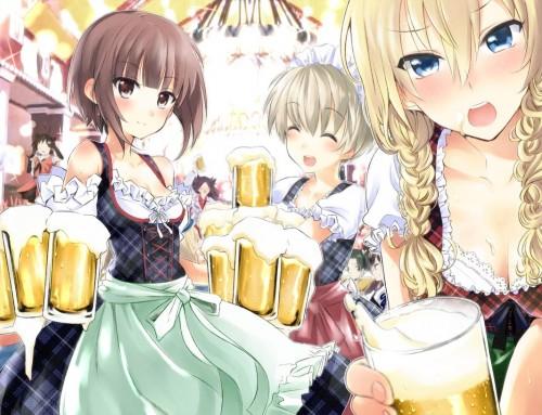 二次 非エロ 萌え フェチ お酒 ビール ジョッキ 缶ビール ディアンドル 酔っ払い 泥酔 二次微エロ画像 beer10020150627008