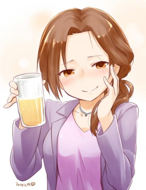 二次 非エロ 萌え フェチ お酒 ビール ジョッキ 缶ビール ディアンドル 酔っ払い 泥酔 二次微エロ画像 beer10020150627091