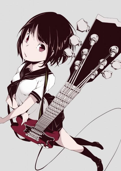 二次 非エロ 萌え 楽器 ヘッドフォン ギター 二次非エロ画像 guitar2015060907