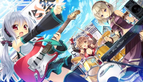 二次 非エロ 萌え 楽器 ヘッドフォン ギター 二次非エロ画像 guitar2015060908
