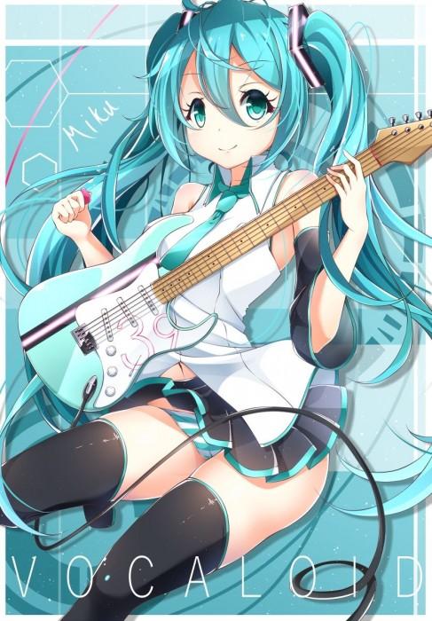 二次 非エロ 萌え 楽器 ヘッドフォン ギター 二次非エロ画像 guitar2015060911