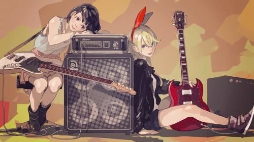 二次 非エロ 萌え 楽器 ヘッドフォン ギター 二次非エロ画像 guitar2015060917