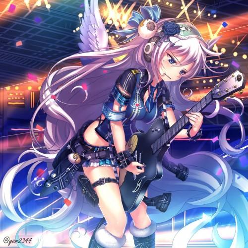 二次 非エロ 萌え 楽器 ヘッドフォン ギター 二次非エロ画像 guitar2015060924