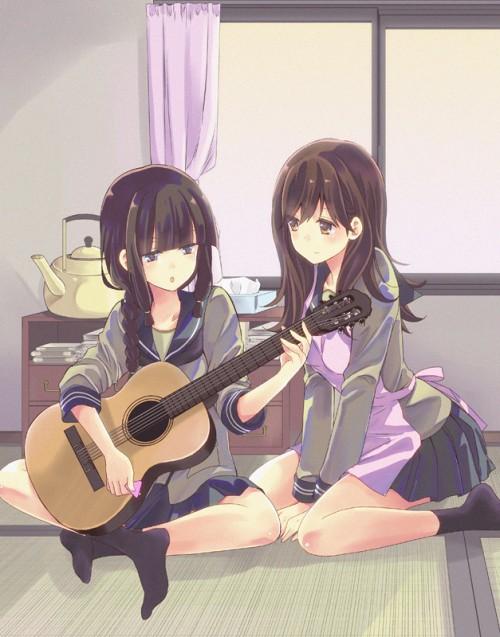 二次 非エロ 萌え 楽器 ヘッドフォン ギター 二次非エロ画像 guitar2015060930