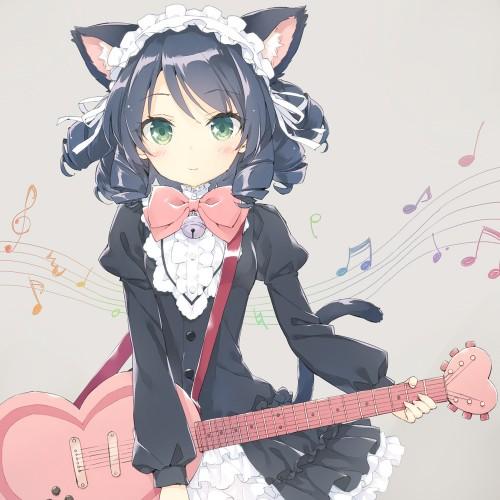 二次 非エロ 萌え 楽器 ヘッドフォン ギター 二次非エロ画像 guitar2015060932