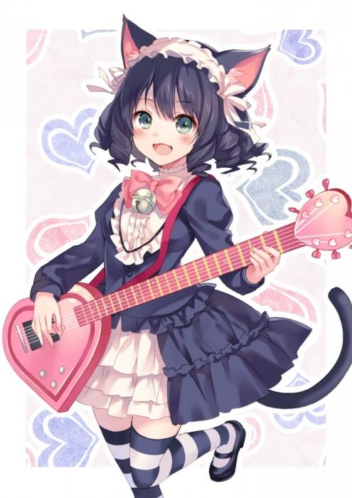 二次 非エロ 萌え 楽器 ヘッドフォン ギター 二次非エロ画像 guitar2015060937