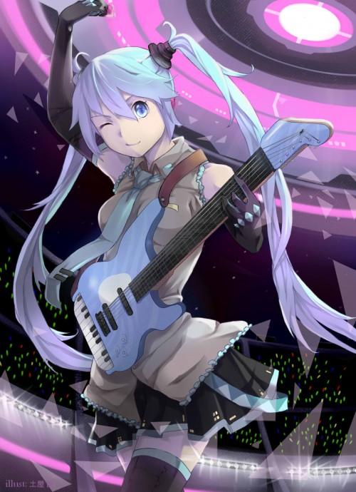 二次 非エロ 萌え 楽器 ヘッドフォン ギター 二次非エロ画像 guitar2015060938