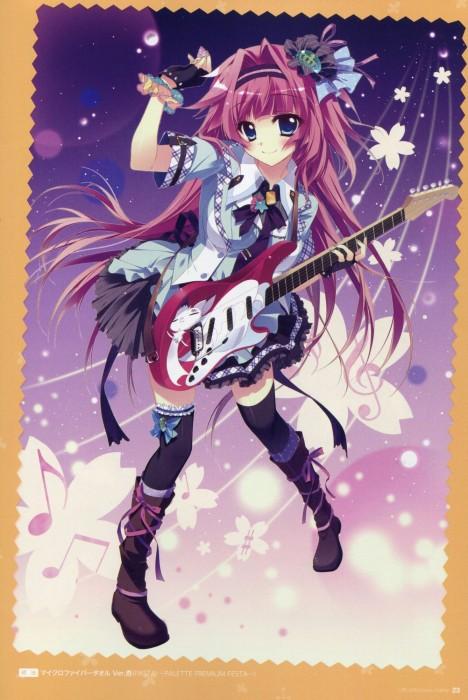 二次 非エロ 萌え 楽器 ヘッドフォン ギター 二次非エロ画像 guitar2015060939