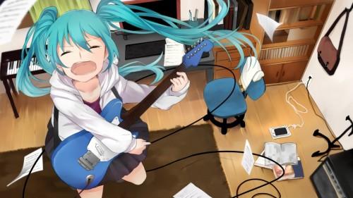 二次 非エロ 萌え 楽器 ヘッドフォン ギター 二次非エロ画像 guitar2015060946