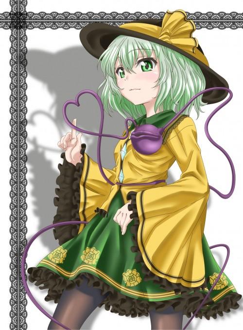 二次 エロ 萌え ゲーム 東方project 古明地こいし 緑髪 帽子 無意識を操る程度の能力 灰色の髪 グリコ 妹 二次エロ画像 komeijikoishi2015061304